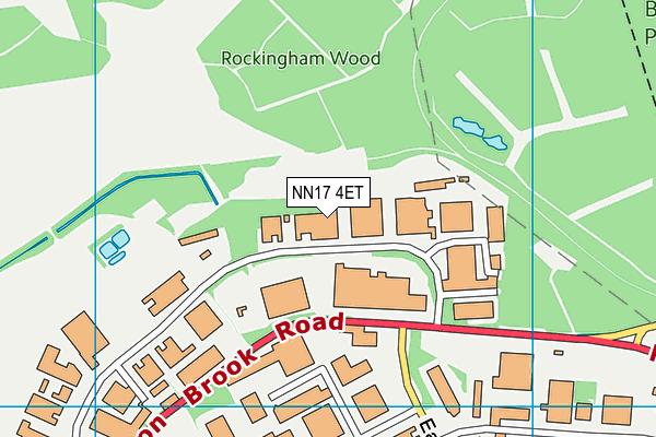 NN17 4ET map - OS VectorMap District (Ordnance Survey)