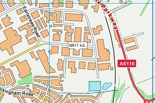 NN17 4JL map - OS VectorMap District (Ordnance Survey)