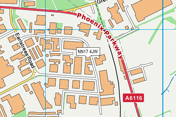 NN17 4JW map - OS VectorMap District (Ordnance Survey)