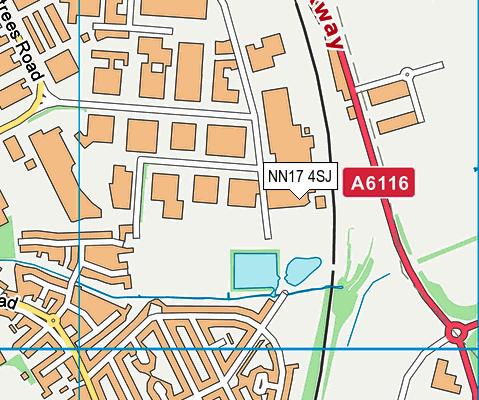 NN17 4SJ map - OS VectorMap District (Ordnance Survey)