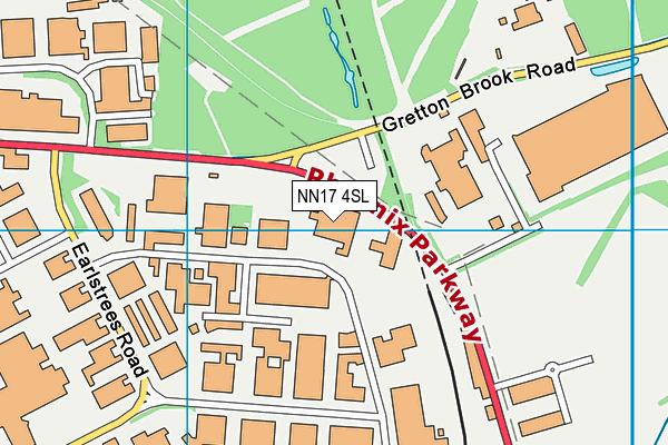 NN17 4SL map - OS VectorMap District (Ordnance Survey)