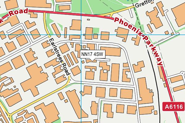 NN17 4SW map - OS VectorMap District (Ordnance Survey)