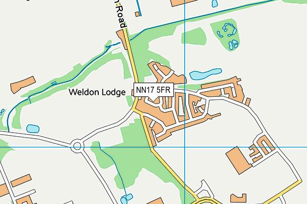NN17 5FR map - OS VectorMap District (Ordnance Survey)