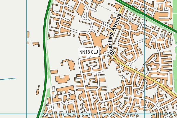 Beanfield Primary School map (NN18 0LJ) - OS VectorMap District (Ordnance Survey)