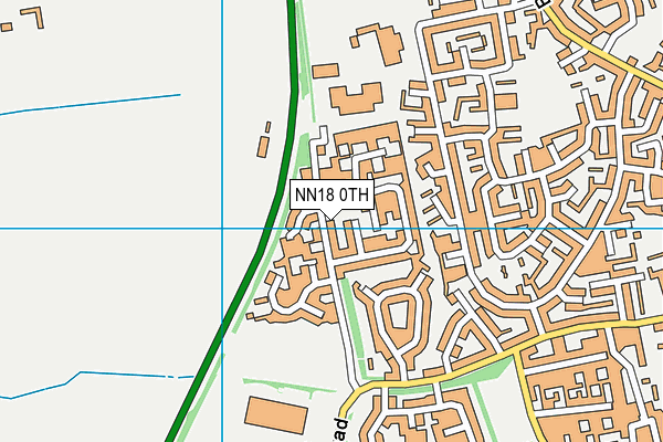 Maplefields Academy map (NN18 0TH) - OS VectorMap District (Ordnance Survey)