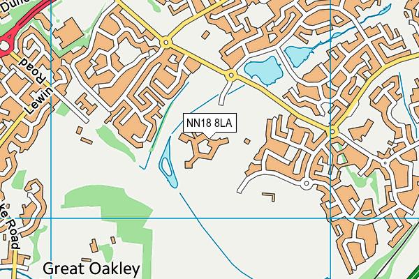 Brooke Weston Academy map (NN18 8LA) - OS VectorMap District (Ordnance Survey)