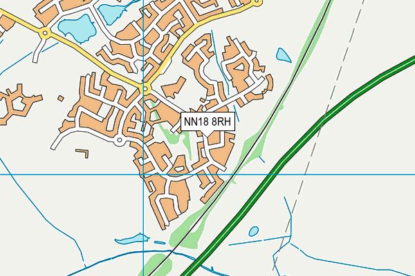 Oakley Vale Primary School map (NN18 8RH) - OS VectorMap District (Ordnance Survey)