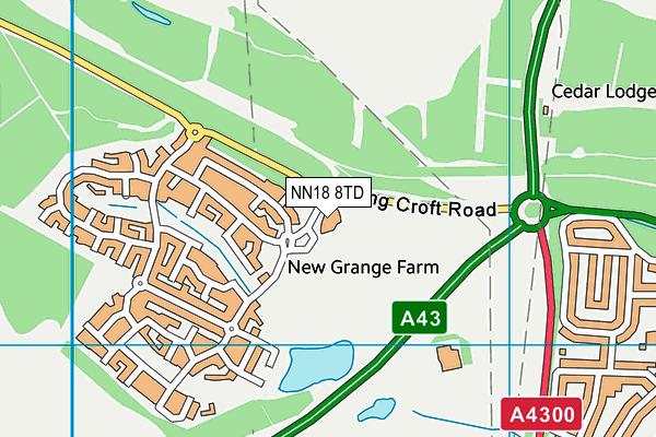Little Stanion Primary School map (NN18 8TD) - OS VectorMap District (Ordnance Survey)
