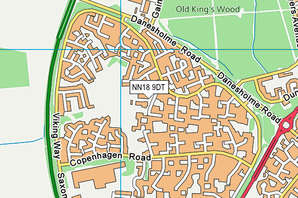 Danesholme Infant Academy map (NN18 9DT) - OS VectorMap District (Ordnance Survey)