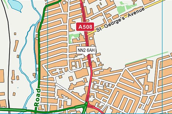 NN2 6AH map - OS VectorMap District (Ordnance Survey)