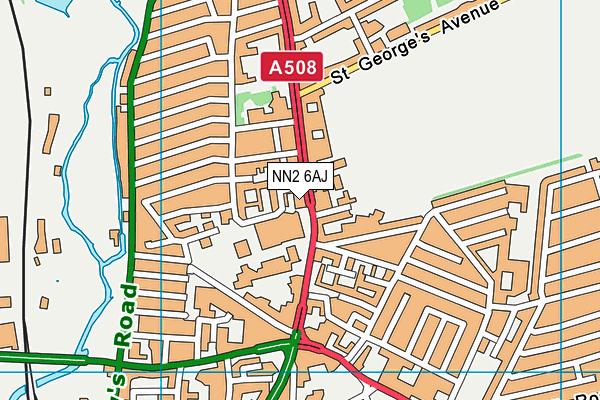 NN2 6AJ map - OS VectorMap District (Ordnance Survey)