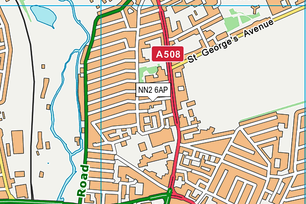 NN2 6AP map - OS VectorMap District (Ordnance Survey)
