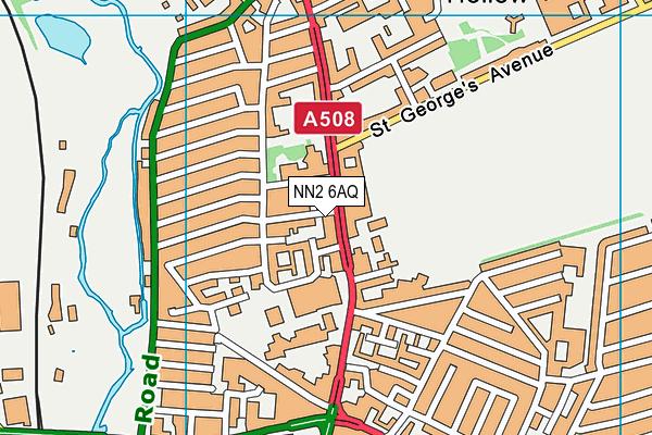 NN2 6AQ map - OS VectorMap District (Ordnance Survey)