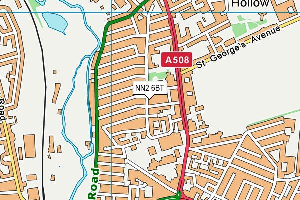 NN2 6BT map - OS VectorMap District (Ordnance Survey)
