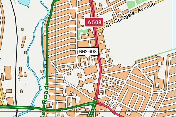 NN2 6DS map - OS VectorMap District (Ordnance Survey)