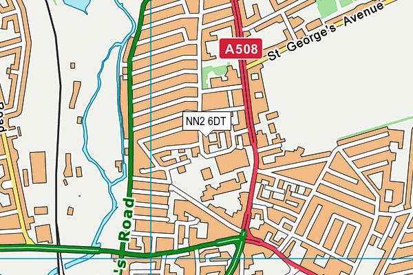 NN2 6DT map - OS VectorMap District (Ordnance Survey)