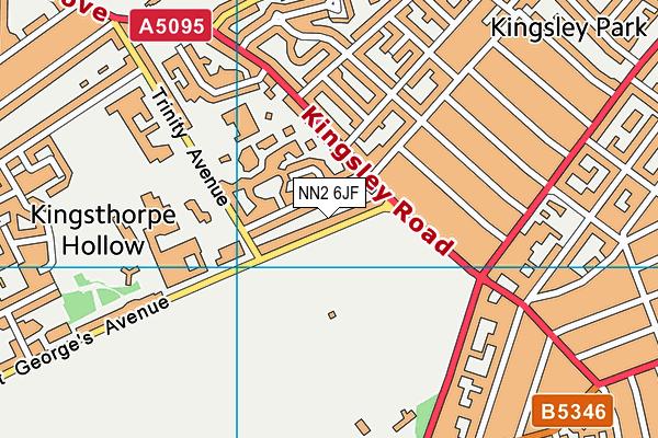 NN2 6JF map - OS VectorMap District (Ordnance Survey)