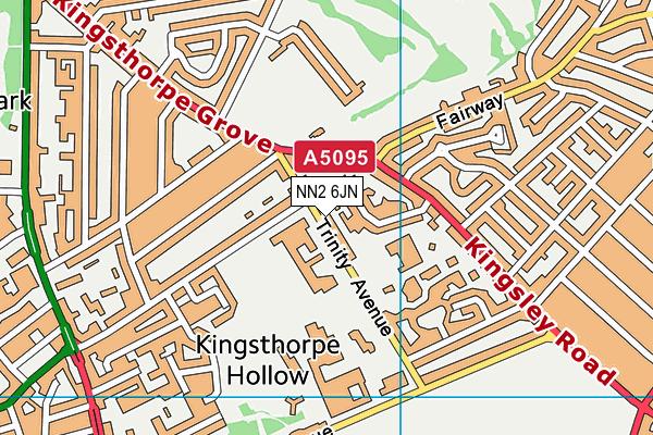 Fairfields School map (NN2 6JN) - OS VectorMap District (Ordnance Survey)