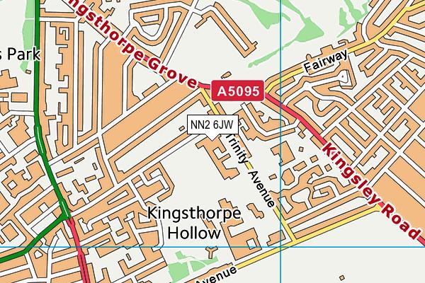 Malcolm Arnold Preparatory School map (NN2 6JW) - OS VectorMap District (Ordnance Survey)