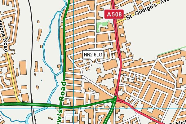 NN2 6LG map - OS VectorMap District (Ordnance Survey)