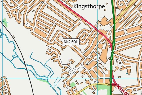 Kingsthorpe Village Primary School map (NN2 6QL) - OS VectorMap District (Ordnance Survey)
