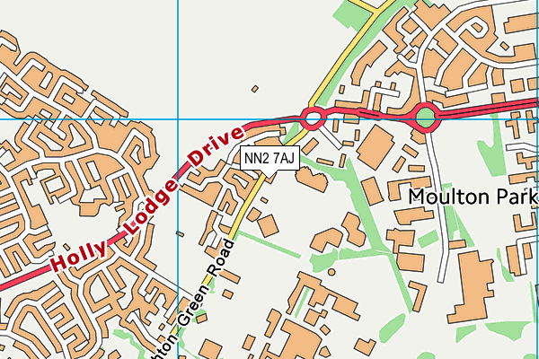NN2 7AJ map - OS VectorMap District (Ordnance Survey)