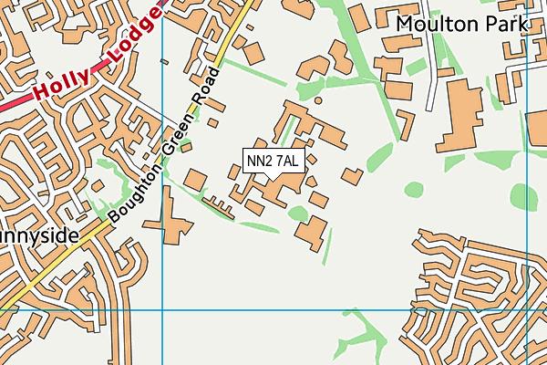 University of Northampton map (NN2 7AL) - OS VectorMap District (Ordnance Survey)