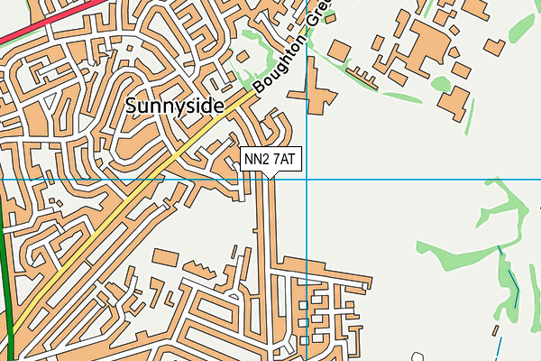 NN2 7AT map - OS VectorMap District (Ordnance Survey)