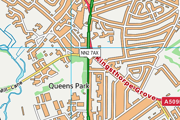 NN2 7AX map - OS VectorMap District (Ordnance Survey)