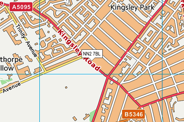 NN2 7BL map - OS VectorMap District (Ordnance Survey)