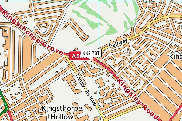 NN2 7BT map - OS VectorMap District (Ordnance Survey)