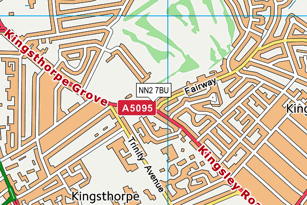 Kingsthorpe Golf Club map (NN2 7BU) - OS VectorMap District (Ordnance Survey)