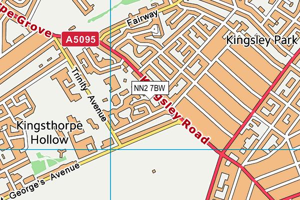 NN2 7BW map - OS VectorMap District (Ordnance Survey)