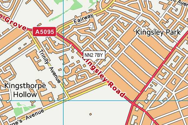NN2 7BY map - OS VectorMap District (Ordnance Survey)