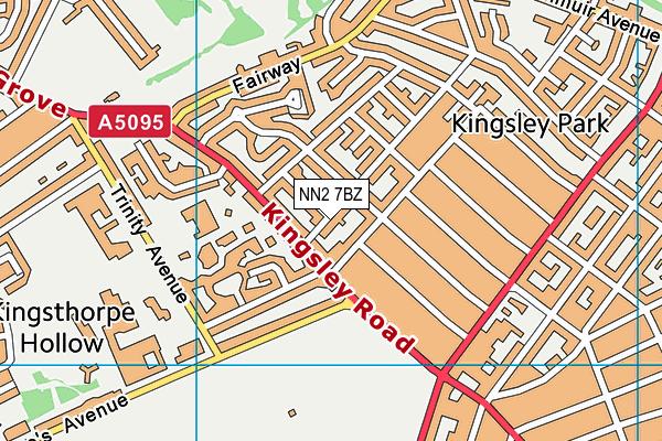 NN2 7BZ map - OS VectorMap District (Ordnance Survey)