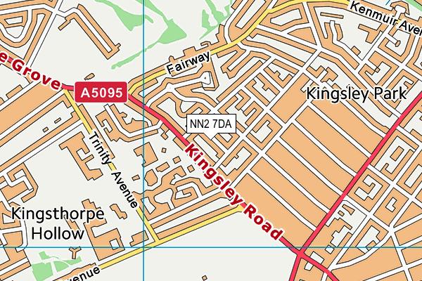 NN2 7DA map - OS VectorMap District (Ordnance Survey)
