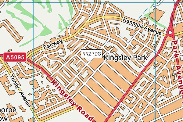 NN2 7DG map - OS VectorMap District (Ordnance Survey)