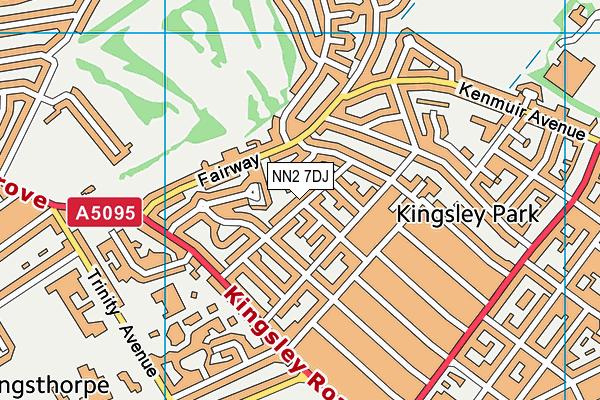 NN2 7DJ map - OS VectorMap District (Ordnance Survey)