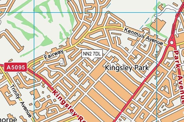 NN2 7DL map - OS VectorMap District (Ordnance Survey)