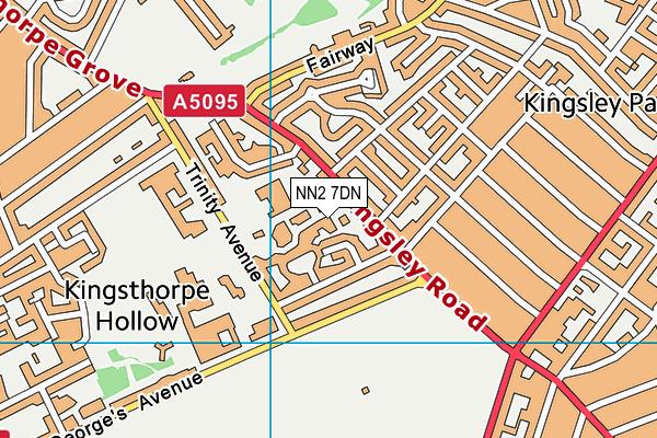 NN2 7DN map - OS VectorMap District (Ordnance Survey)