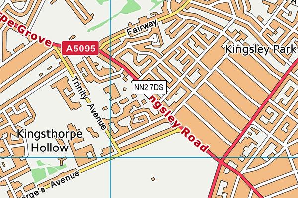 NN2 7DS map - OS VectorMap District (Ordnance Survey)