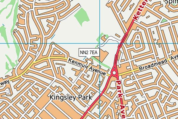 NN2 7EA map - OS VectorMap District (Ordnance Survey)