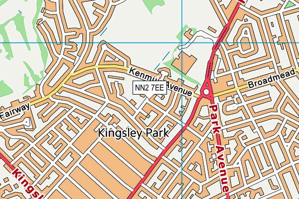 Kingsley Primary School map (NN2 7EE) - OS VectorMap District (Ordnance Survey)