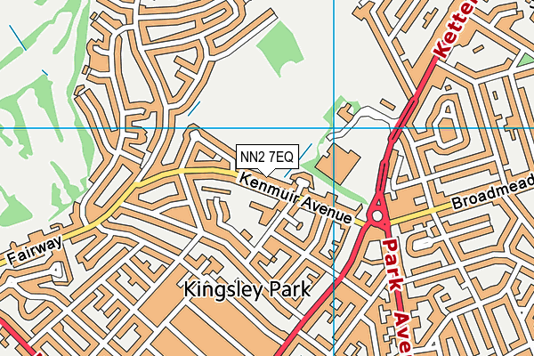 NN2 7EQ map - OS VectorMap District (Ordnance Survey)