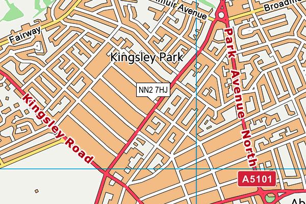 Kingsley Park Working Mens Club map (NN2 7HJ) - OS VectorMap District (Ordnance Survey)