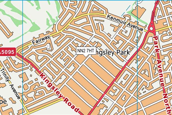 NN2 7HT map - OS VectorMap District (Ordnance Survey)