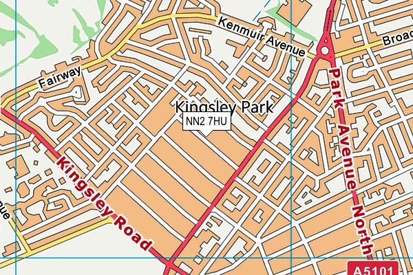 NN2 7HU map - OS VectorMap District (Ordnance Survey)