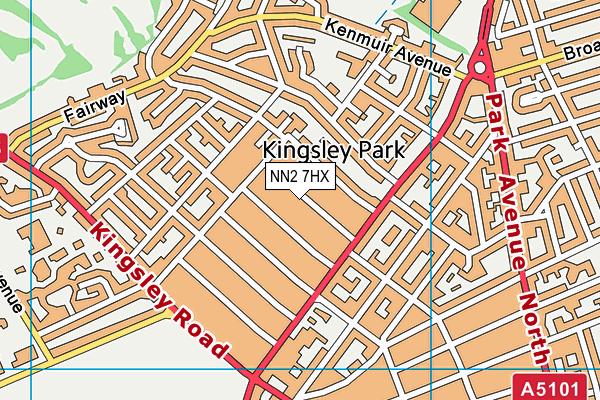 NN2 7HX map - OS VectorMap District (Ordnance Survey)