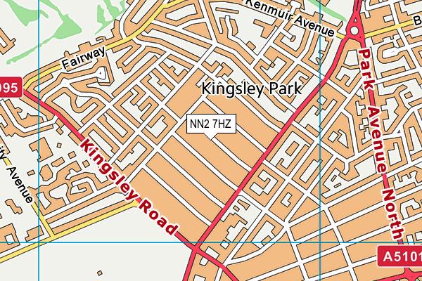 NN2 7HZ map - OS VectorMap District (Ordnance Survey)