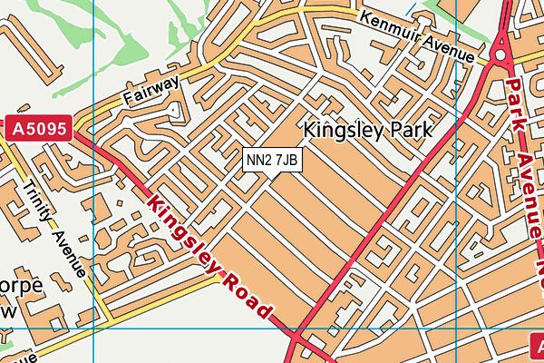 NN2 7JB map - OS VectorMap District (Ordnance Survey)